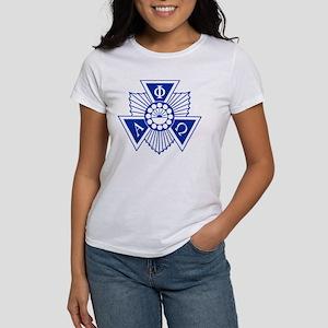 Alpha Phi Omega Cres Women's Classic White T-Shirt