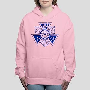 Alpha Phi Omega Crest an Women's Hooded Sweatshirt
