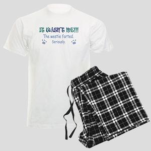 westie farted Men's Light Pajamas