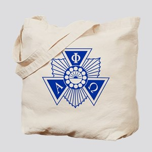 Alpha Phi Omega Crest and Letters Blue Tote Bag