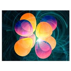 4f2 electron orbital Canvas Art