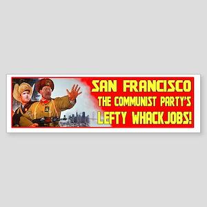 San Francisco Communist Lefty Sticker (Bumper)