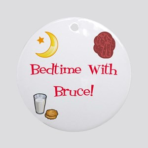 Bedtime With Bruce Ornament (Round)