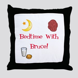 Bedtime With Bruce Throw Pillow