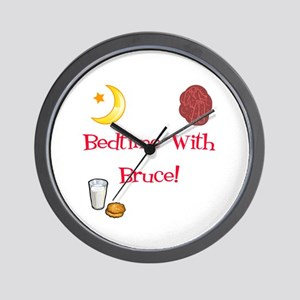 Bedtime With Bruce Wall Clock