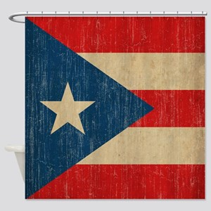 Vintage Puerto Rico Shower Curtain