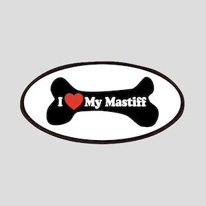 I Love My Mastiff - Dog Bone Patches