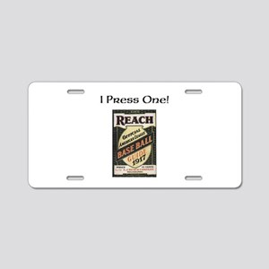 Baseball 1917 Aluminum License Plate
