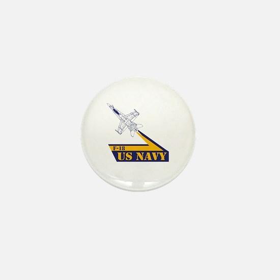 US NAVY Hornet F-18 Mini Button
