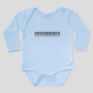 Cali, Baby Barcode, Long Sleeve Infant Bodysuit