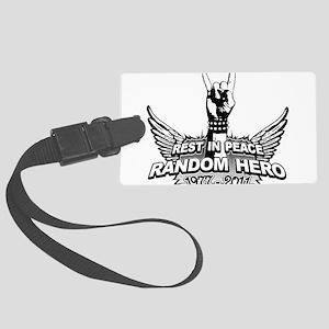 RIP RANDOM HERO Large Luggage Tag