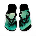 Palm Tree & Pool Flip Flops