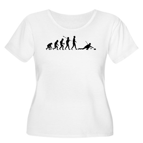 Curling Women's Plus Size Scoop Neck T-Shirt