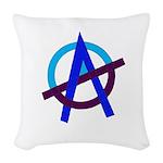 Poppa Smurf Woven Throw Pillow