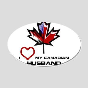 America - Canada Husband 20x12 Oval Wall Decal