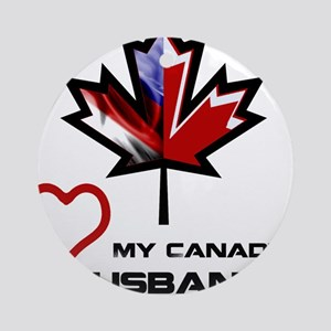 America - Canada Husband Ornament (Round)