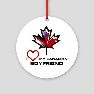 America - Canada Boyfriend Ornament (Round)