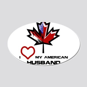 Canada-America Husband 20x12 Oval Wall Decal