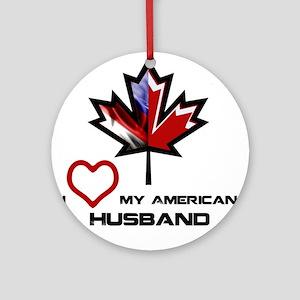 Canada-America Husband Ornament (Round)