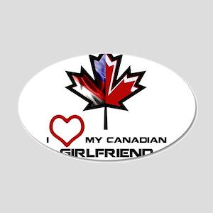 America - Canada Girlfriend 20x12 Oval Wall De