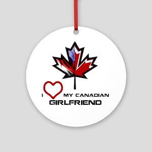 America - Canada Girlfriend Ornament (Round)