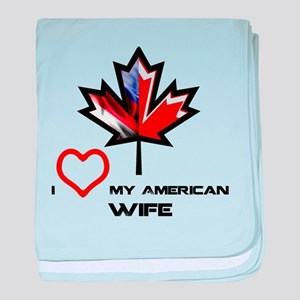 Canada-America Wife baby blanket