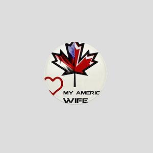 Canada-America Wife Mini Button