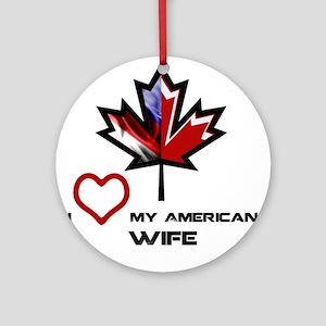 Canada-America Wife Ornament (Round)