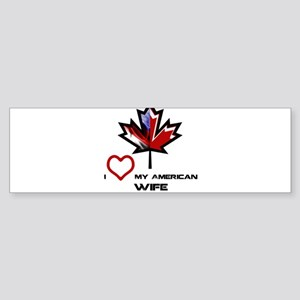 Canada-America Wife Sticker (Bumper)