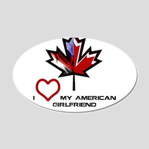 Canada-American Girlfriend 20x12 Oval Wall Dec