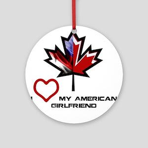 Canada-American Girlfriend Ornament (Round)