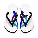Poppa Smurf Flip Flops