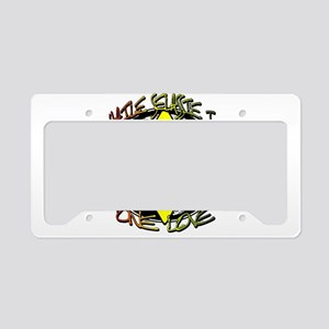 HAILE SELASSIE I - ONE LOVE! License Plate Holder