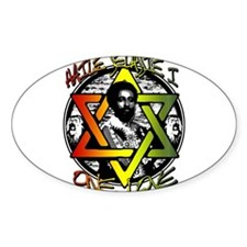 HAILE SELASSIE I - ONE LOVE! Sticker (Oval)