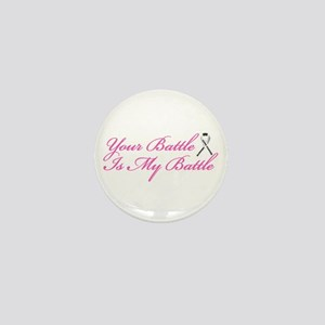 Lung Cancer Pink Mini Button