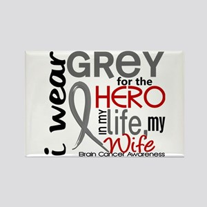 Hero in Life 2 Brain Cancer Rectangle Magnet