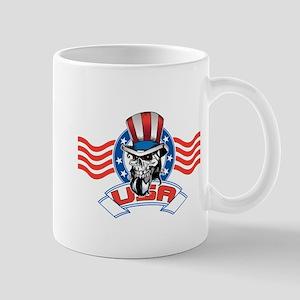 Patriotic Skull Mug