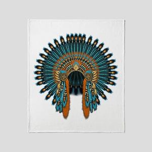 Native War Bonnet 07 Throw Blanket
