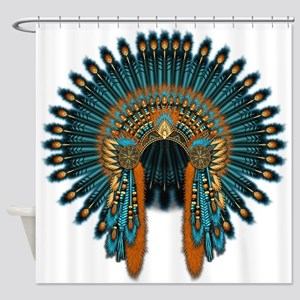 Native War Bonnet 07 Shower Curtain