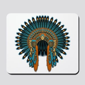 Native War Bonnet 07 Mousepad