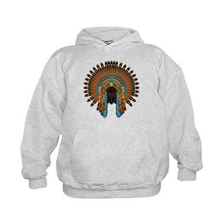 Native War Bonnet 08 Kids Hoodie