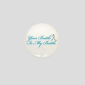Lung Cancer Blue Mini Button