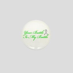 Lung Cancer Green Mini Button
