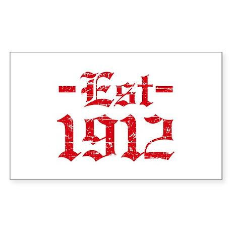 Established in 1912 Sticker (Rectangle)