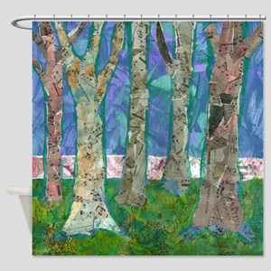 Music Amongst the Trees Bathroom Shower Curtain