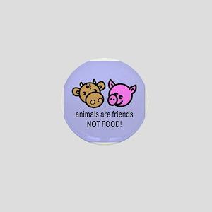 Animals Are Friends Mini Button
