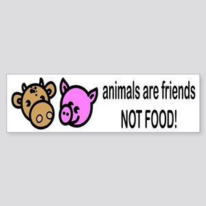 Animals Are Friends Bumper Sticker