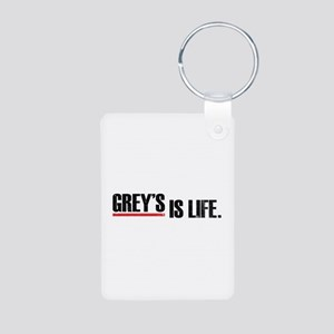 Grey's is life Aluminum Photo Keychain