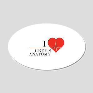 I love grey's anatomy 22x14 Oval Wall Peel