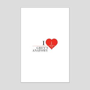 I love grey's anatomy Mini Poster Print